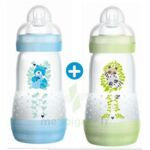 MAM BIBERON EASY START anti-colique 260 ml lot de 2_ BLEU & VERT à Marseille