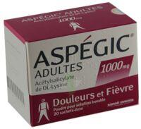 ASPEGIC ADULTES 1000 mg, poudre pour solution buvable en sachet-dose 15 à Marseille