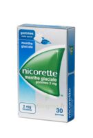 NICORETTE 2 mg Gom à mâcher médic sans sucre menthe glaciale Plq/30gom à Marseille