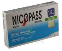 Nicopass 1,5 mg Pastille eucalyptus sans sucre Plq/12 à Marseille
