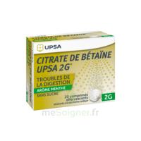 Citrate de Bétaïne UPSA 2 g Comprimés effervescents sans sucre menthe édulcoré à la saccharine sodique T/20 à Marseille
