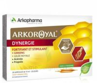 Arkoroyal Dynergie Ginseng Gelée Royale Propolis Solution Buvable 20 Ampoules/10ml à Marseille