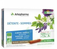 Arkofluide Bio Ultraextract Solution Buvable Détente Sommeil 20 Ampoules/10ml à Marseille