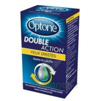 Optone Double Action Solution Oculaire Yeux Irrités Fl/10ml à Marseille