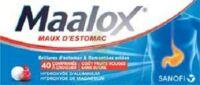 Maalox Maux D'estomac Hydroxyde D'aluminium/hydroxyde De Magnesium 400 Mg/400 Mg Sans Sucre Fruits Rouges, Comprimé à Croquer édulcoré à La Saccharine Sodique, Au Sorbitol Et Au Maltitol à Marseille