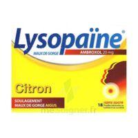 LYSOPAÏNE MAUX DE GORGE AMBROXOL CITRON 20 mg SANS SUCRE, pastille édulcorée au sorbitol et au sucralose à Marseille