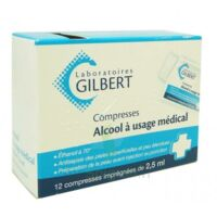 ALCOOL A USAGE MEDICAL GILBERT 2,5 ml Compr imprégnée 12Sach à Marseille