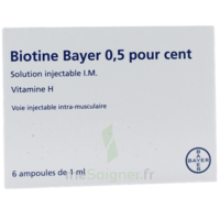 BIOTINE BAYER 0,5 POUR CENT, solution injectable I.M. à Marseille