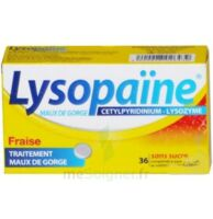 LYSOPAÏNE MAUX DE GORGE CETYLPYRIDINIUM LYSOZYME FRAISE SANS SUCRE, comprimé à sucer édulcoré au sorbitol et à la saccharine à Marseille