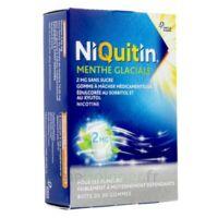 NIQUITIN 2 mg Gom à mâcher médic menthe glaciale sans sucre Plq PVC/PVDC/Alu/30 à Marseille