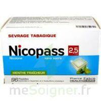 Nicopass 2,5 mg Pastille menthe fraîcheur sans sucre Plq/96 à Marseille