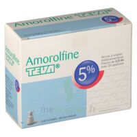 AMOROLFINE TEVA 5 % Vernis ongl médic médicamenteux 1Fl ver/2,5ml+spat à Marseille