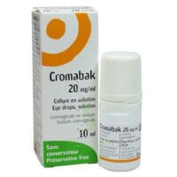 CROMABAK 20 mg/ml, collyre en solution à Marseille