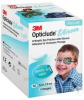 Opticlude Design Boy Pansement Orthoptique Silicone Midi 5,3x7cm à Marseille