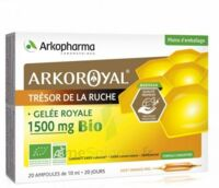 Arkoroyal Gelée Royale Bio 1500 Mg Solution Buvable 20 Ampoules/10ml