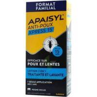 Apaisyl Anti-poux Xpress 15' Lotion Antipoux Et Lente 200ml+peigne à Marseille
